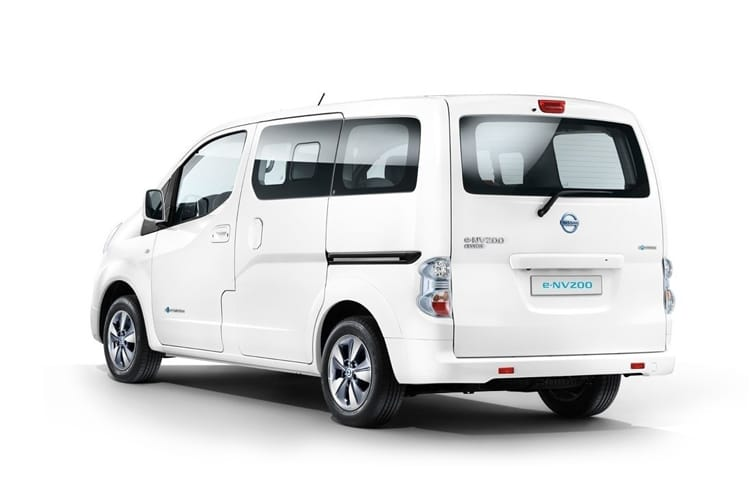 Nissan NV200 e-NV200 Combi M1 Elec 40kWh 80KW FWD 109PS Visia 50kW QC Combi Auto [7Seat] back view