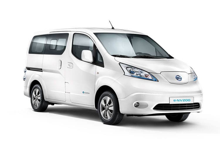 Nissan NV200 e-NV200 Combi M1 Elec 40kWh 80KW FWD 109PS Visia 50kW QC Combi Auto [7Seat] front view